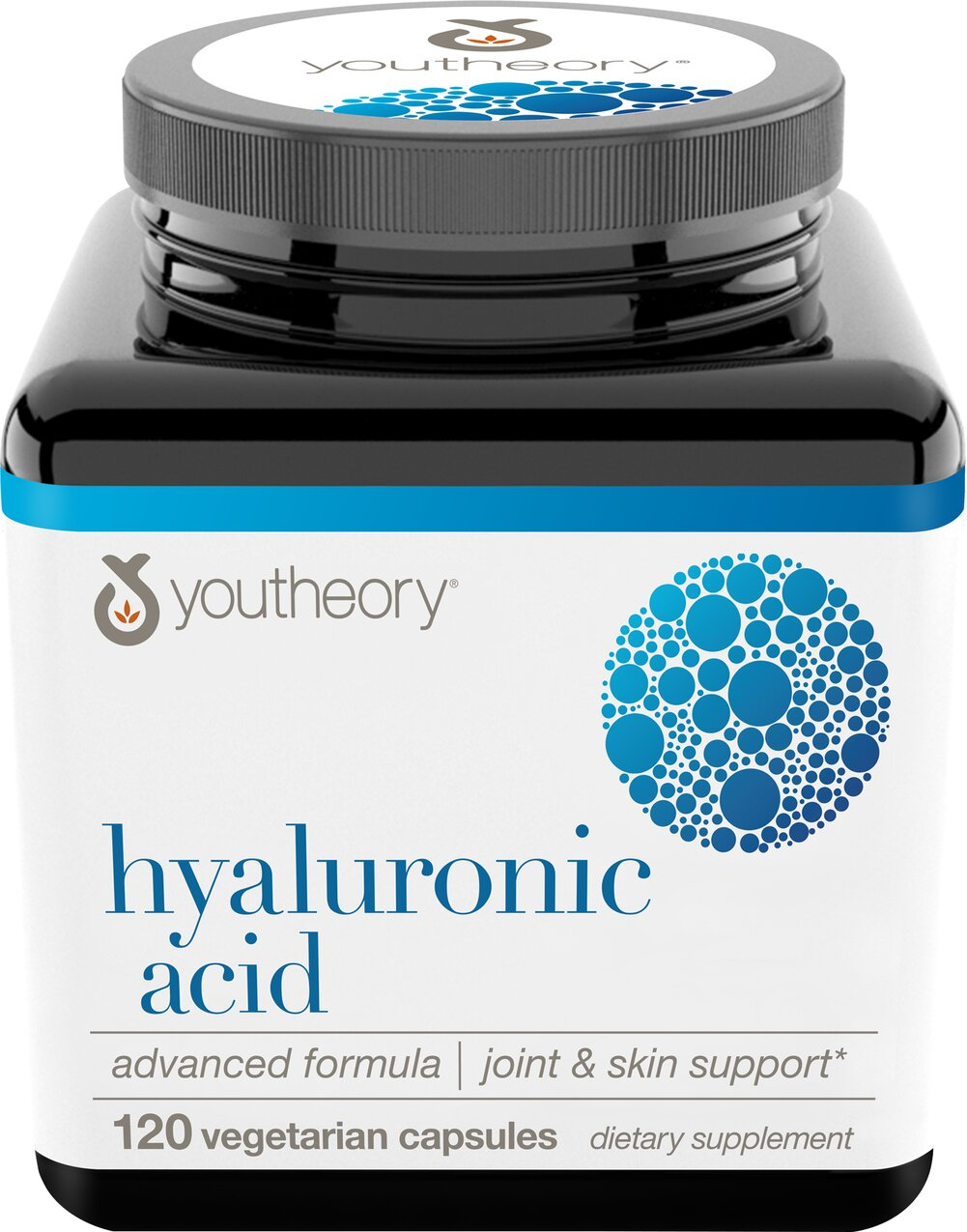 Hyaluronic Acid Advanced Formula <p><strong>From the Manufacturer's Label:</strong></p><p>• Joint Cushioning**<br />• Helps to Promote Better Skin**<br /><br />Youtheory™ Hyaluronic Acid Advanced is our carefully sourced formulation of natural elements which have been used for centuries to help produce more supple skin and support healthy joint function as we advance in age.**<br /><br />By joining Hyaluronic Acid with a host of the