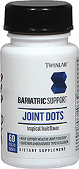 Joint Dots Undenatured Type II Collagen <p><strong>From the Manufacturer's Label:</strong><br /></p><ul><li>Bariatric Support**</li><li>Help Support Healthy Joint Function**</li><li>Superior, Undenatured Type II Collagen</li><li>Tropical Fruit Flavor<br /></li></ul><p>Bariatric Support is a comprehensive supplementation program designed by Twinlab to provide high quality nutritional solution