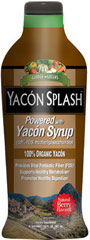Yacon Splash™ <p>From the Manufacturer's Label:</p><p>Found in Peru and other parts of South America Yacón, often referred to as Peruvian ground apple,is a tuberous root, much like a jicama or sweet potato. The Yacón Tuber can be eaten plain, dried into a powder or cooked into a syrup or tea.</p><p>Manufactured by Windmill Health Products.</p><p></p><p></p> 30 oz Liquid  $18.99