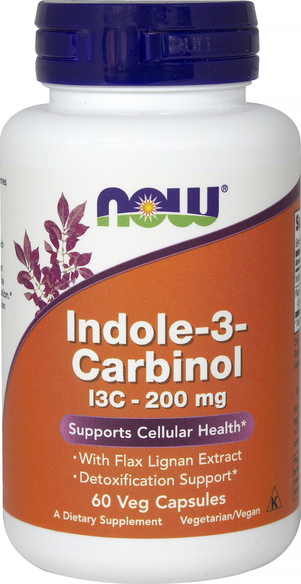 Indole-3-Carbinol 200 mg <p>From the Manufacturer's Label:<br /><br />• Supports Cellular Health**<br />• With Flax Lignans</p><p>Cruciferous vegetables (cabbage, broccoli, cauliflower, etc.) are uniquely abundant in a sulfur-containing compound called Indole-3-Carbinol (I3C). In the acidic stomach environment, I3C is converted into derivative compounds shown to neutralize free radicals and support healthy cell cycle regulation. DIM (diindolemethane) is a