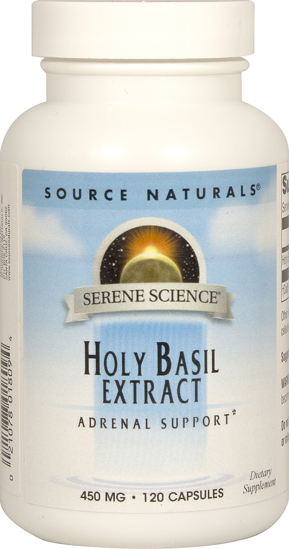 Holy Basil Extract 450 mg <p><strong>From the Manufacturer's Label:</strong></p><p>Holy basil is one of the primary botanicals used in Ayurvedic practice in India.  It is a powerful adaptogen that helps your body adapt to the negative effects of stress.  Holy basil may help maintain normal blood sugar levels.**</p><p>Manufactured by Source Naturals.</p> 120 Capsules 450 mg $12.99