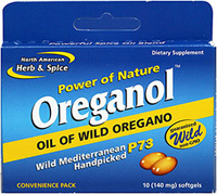 Oreganol™ 140 mg Convenience Pack <p><strong>From the Manufacturer's Label:</strong></p><p>Oreganol P73 is the original and truly wild oregano leaf extract, a blend of 4 edible species of high mountain oregano.  North American Herb & Spice wild oregano is from the original ancient sources grown upon the white calcium-rich rock found in the pristine Mediterranean mountains, up to 8,000 feet above sea level.  Accept no cheap imitations gr