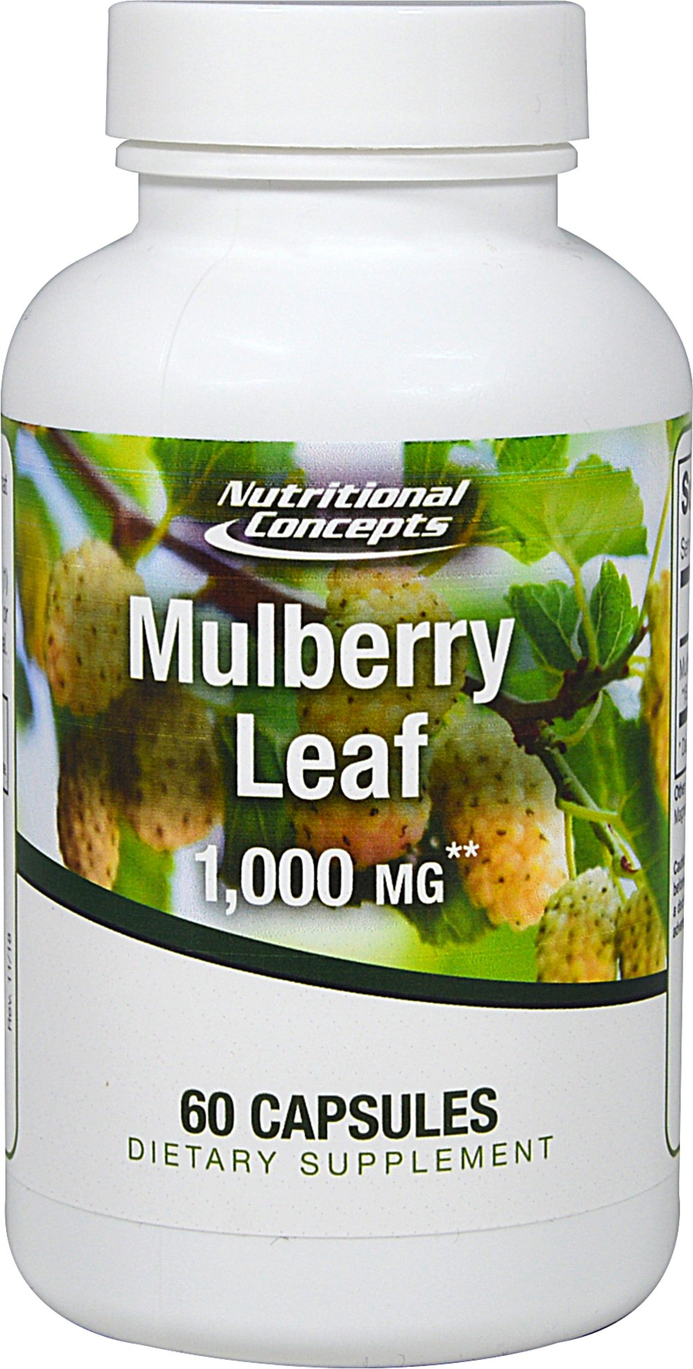 White Mulberry Leaf Extract 1,000 mg  60 Capsules