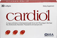 "Cardiol® <p><strong>From the manufacturer:</strong></p><p align=""left"" style=""margin-bottom:11.25pt;text-align:left;""><span style=""font-size:9.0pt;font-family:'Arial','sans-serif';color:#2E2E2E;"">All natural supplement to maintain healthy cholesterol levels already within the normal range.**</span><span style=""font-size:9.0pt;font-family:'Arial','sans-serif';color:red;"">&l"