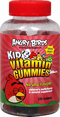 "Angry Birds Kid's Vitamin Gummies <span style=""font-size:12.0pt;font-family:'Calibri','sans-serif';""><br type=""_moz"" /></span> 120 Gummies  $12.29"