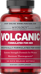 Volcanic for Her Pre-workout <p>Volcanic Formulated For Her is specifically for women looking to get into excellent shape while keeping their energy levels maximized.**</p><p>Volcanic Formulated For Her contains the hottest ingredients available including Green Tea Extract and Yerba Mate, plus Caffeine for thermogenic and metabolic-stimulating effects.** Use with your reduced calorie diet and daily exercise program to reach all of your body-shaping goals.*</p> 120 Softgel