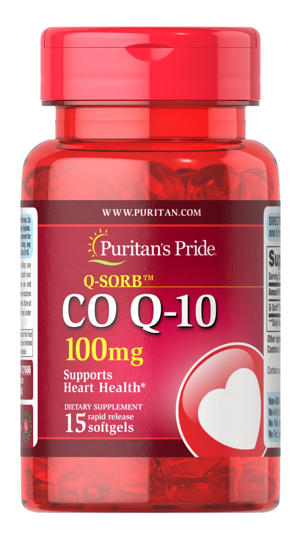"Co Q-10 100 mg <br /><ul><li>Contributes to your heart and cardiovascular wellness**</li><li>Helps support healthy blood pressure levels already within a normal range**</li><li>Promotes energy production within your heart, brain and muscles**</li></ul>  <p style=""margin:0in;margin-bottom:.0001pt;"">Made with a natural, highly bioavailable form of Co Q 10 — Q-Sorb.™Important for Statin medication users++ — taking Q-Sorb™ Co Q 10"