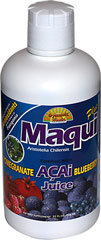 Maqui Plus Juice Blend <p><strong>From the Manufacturer's Label: </strong></p><p><strong></strong></p><p>The Maqui berries grow wild in the Patagonia region of South America.  These dark purple berries are considered sacred by the people of the Mapuche culture who believe it contains medicinal properties.  The Maqui berry is considered to have the highest Orac Value of the Super-Fruits.  The synergy of Maqui and
