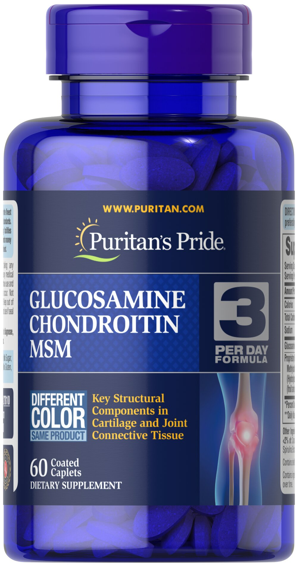 Double Strength Glucosamine, Chondroitin & MSM Joint Soother® <p>Combines the top three structural components found in popular joint support products — Glucosamine, Chondroitin and MSM — with amino and herbal support from Collagen and Boswellia Serrata**</p><p>This high-quality formula delivers 1,500 mg of Glucosamine Sulfate to help support cartilage, lubricate the joints, and helps with occasional joint stress due to exercise or physical activity**</p> 60 Caple