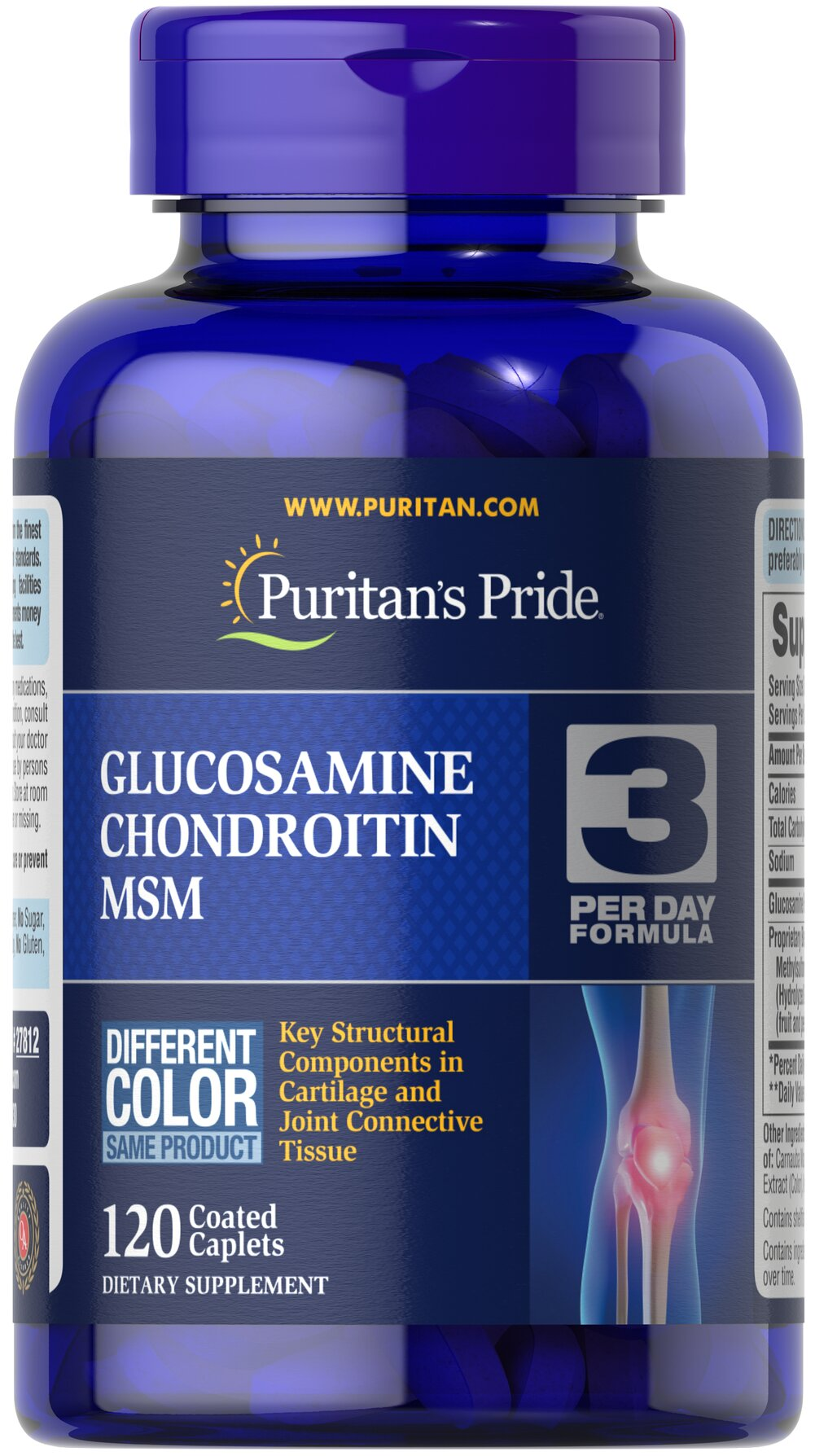 Double Strength Glucosamine, Chondroitin & MSM Joint Soother®  120 Caplets  $22.39