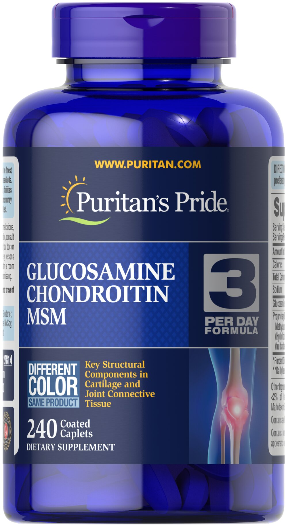 Double Strength Glucosamine, Chondroitin & MSM Joint Soother® <p>Combines the top three structural components found in popular joint support products — Glucosamine, Chondroitin and MSM — with amino and herbal support from Collagen and Boswellia Serrata**</p><p>This high-quality formula delivers 1,500 mg of Glucosamine Sulfate to help support cartilage, lubricate the joints, and helps with occasional joint stress due to exercise or physical activity**</p> 240 Capl