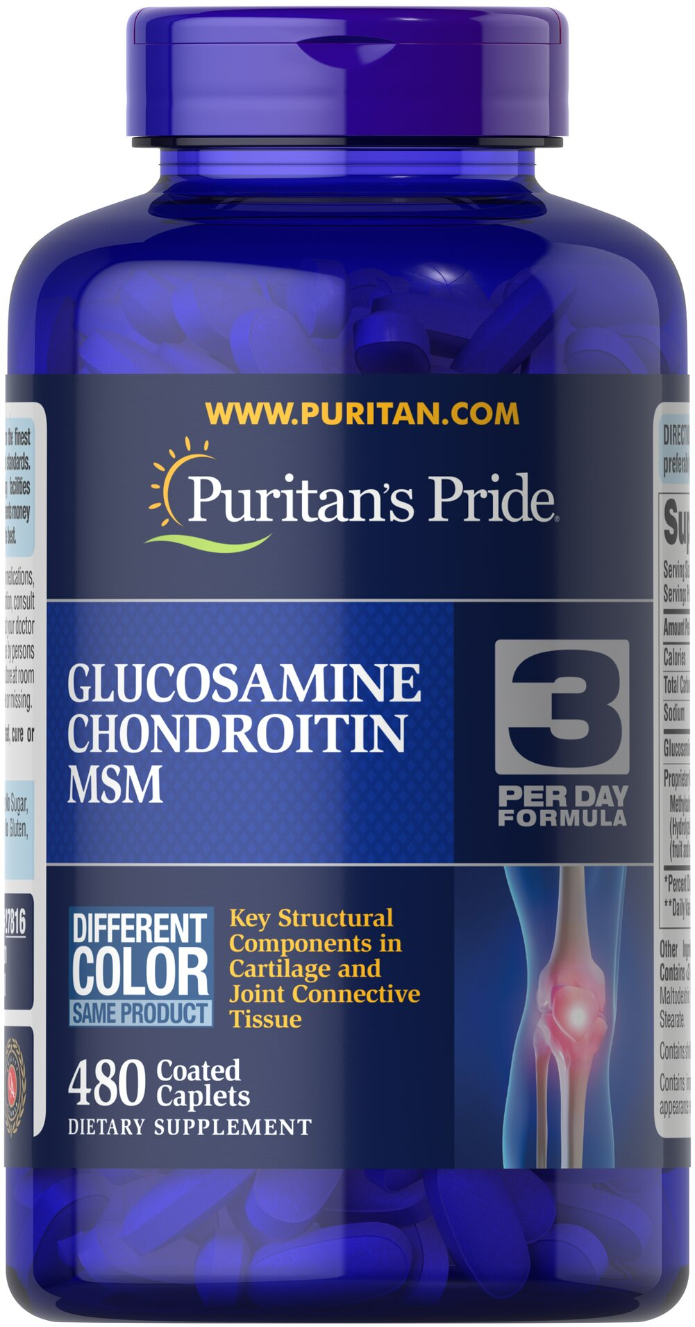 Double Strength Glucosamine, Chondroitin & MSM Joint Soother® <p>Combines the top three structural components found in popular joint support products — Glucosamine, Chondroitin and MSM — with amino and herbal support from Collagen and Boswellia Serrata**</p><p>This high-quality formula delivers 1,500 mg of Glucosamine HCL to help support cartilage, lubricate the joints, and helps with occasional joint stress due to exercise or physical activity**</p> 480 Caplets