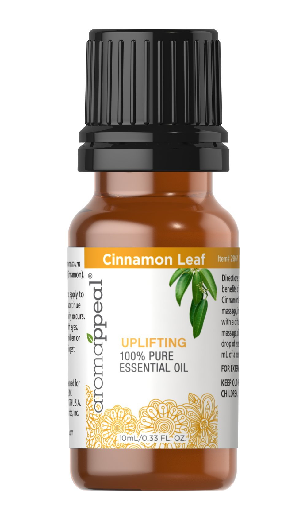 "Cinnamon Leaf 100% Pure Essential Oil <p>Stimulate your senses with the invigorating, uplifting allure of Cinnamon Leaf. Known for its distinctly spicy-sweet aroma.<br /></p><ul><li><span class=""bold-pink"">Traditional Uses:</span> Purifying, stimulating and invigorating, uplifting.  </li><li><span class=""bold-pink"">History:</span>  Stimulate your senses with the invigorating, uplifting allure of  Cinnamon Leaf."