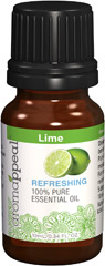 Lime 100% Pure Essential Oil Weave harmony into your often-hectic days with the cleansing, balancing freshness of Lime. Beloved for its mild, yet zesty citrus aroma, Lime Oil can be rubbed into your joints to soothe and comfort. 10 ml Oil  $8.99