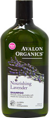 Lavender Nourishing Shampoo <p><strong>From the Manufacturer's Label:</strong></p><p>Lavender Nourishing Shampoo is manufactured by Avalon Organics.</p><p>- No Parabens, Harsh Preservatives, Synthetic Colors or Fragrances, Phthalates, Sodium Lauryl or Laureth Sulfate.</p><p>- 100% Vegetarian Ingredients.</p><p>- No Animal Testing.</p> 11 fl oz Shampoo