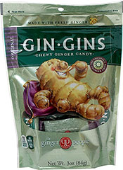 Ginger Chews Original <p><strong>From the Manufacturer's Label: </strong></p><p>America's Number 1 Selling Ginger Candy! Ginger Chews are great for traveling and activity. Made with real ginger, stimulating and delicious. Surprisingly and satisfyingly spicy. The only candy that bites you back!</p><ul><li>Fat Free</li><li>Vegan</li><li>Gluten Free</li></ul> 3 oz Bag  $3.59