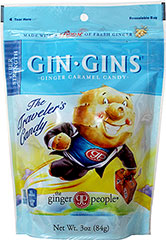 "Gin Gins Boost Candy <div><p><strong>From the Manufacturer's Label: </strong></p><p>America's #1  selling ginger candy and winner of Fiery Food Association's Scovie Award  for ""Best Candy,"" our Original Ginger Chews are natural, stimulating  and delicious.</p><p>Given ginger's queasy-quelling properties, Ginger  Chews are great to fight off nausea while flying, boating or going on a  bumpy road trip. Surprisingly and satis"