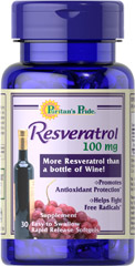 Resveratrol 100 mg <p>Promotes antioxidant support.**</p><p>Helps fight free radicals.</p><p>More Resveratrol than a bottle of wine in each softgel.</p><p>Easy to swallow, rapid release softgels.</p><p>Trial size.</p><p>Resveratrol is a dietary supplement designed to promote antioxidant health by fighting against the effects of free radicals.** Antioxidant support can be important for your overall health and wellness, as free radi