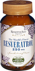 Reserveage™ Resveratrol 250 mg <p><strong>From the Manufacturer's Label: </strong></p>• Optimized Potency**<br />• Maximum Antioxidant Protection**<br /><br />ReserveAge™ is committed to the extension of youth - naturally.<br /><br />Reservatrol: An active polyphenol found in the skins, seeds and stems of grapes, has been proven in studies to be the element in red wine which increases cellular productivity and longevity, leading to a long