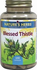 Blessed Thistle <p><strong>From the Manufacturer's Label: </strong></p><p>Blessed Thistle brought to you by Nature's Herbs inhibits normal plant oxidation, maintaining product potency and extending freshness. It includes all-natural antioxidants in each capsule, air-tight seals and advanced bottle design for maximum freshness.<br /></p> 100 Capsules 360 mg $8.99