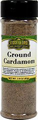 Ground Cardamom <p>As a member of the cinnamon family, Cardamom is derived from the tropical rainforests of India. Known for its bold, sweet, slightly lemony flavor, Cardamom is a compelling addition to anything from coffee, to meat dishes, to baked goods.</p> 2.9 oz. Bottle  $11.99