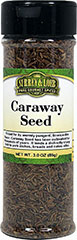 Caraway Seed <p>Caraway Seed lends a distinctly sharp boost to pork dishes, breads and cakes alike. These small, black seeds are most popularly used as a nutty flavoring in baked goods and pastries.</p> 3 oz Seeds  $5.94
