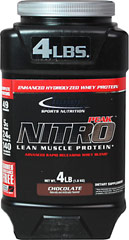 Nitro Peak Protein Chocolate  4 lbs Powder  $35.99