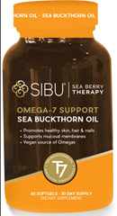 Sea Buckthorn Oil Cellular Support with Omega-7 500 mg <p><strong>From the Manufacturer's Label: </strong></p><p><strong></strong></p><p>Cellular Support with Omega-7<br /><br /><strong>THE SEA BUCKTHORN BEAUTY SECRET</strong><br /><br />Sea buckthorn survives and thrives in the harsh conditions high in the Himalayas by fortifying itself with over 190 bioactive compounds, including omega-7.<br />&