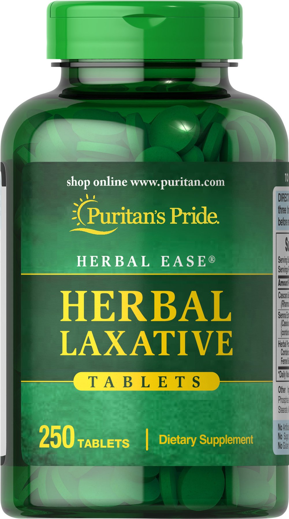 Herbal Laxative <p>Herbal Laxative Tablets is based on traditional use for the relief of occasional constipation.** Our formula brings together holistic properties to help promote regularity.** Herbal Laxative Tablets contain no harsh synthetics, so you can be assured of gentle, yet efficient, cleansing.**</p><p></p><p>Also available in Capsules. See items 2180, 2183 and 2185.</p> 250 Tablets  $24.99