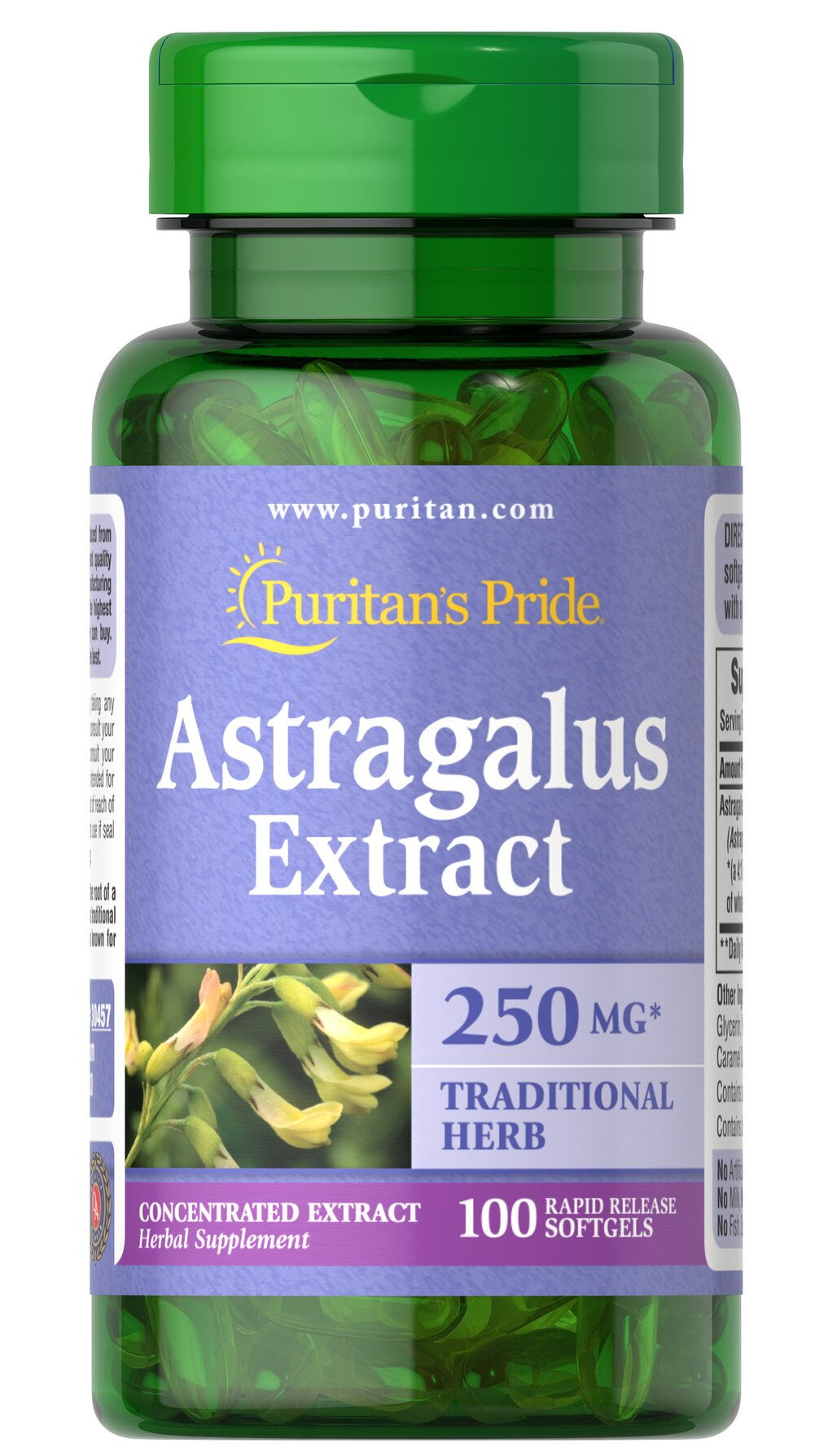 Astragalus Extract 1000 mg* <p>Traditional Chinese Herb </p><p>Astragalus contains naturally occurring flavonoids and polysaccharides. As a traditional Chinese herb, Astragalus is known for its goodness.</p> 100 Softgels 1000 mg $15.39