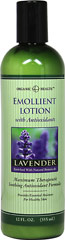 Organic Health™ Emollient Lavender Lotion with Antioxidants <p>Maximum Therapeutic Soothing Antioxidant Formula</p>  <p>Provides Essential Moisture for Healthy Skin</p>  <p>Enriched with Natural Botanicals</p>  <p>Emollient Lotion with Antioxidants provides therapeutic support for dry, sensitive skin. It softens and moisturizes while providing soothing protection. This exclusive blend of nourishing ingredients includes important antioxidant vitamins and