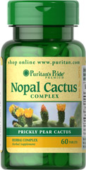 Nopal Prickly Pear Cactus 200 mg Complex <p><span></span>Also known as Prickly Pear Cactus.</p><p><span></span>Herbal complex.</p><p><span></span>Vegetarian/Vegan.</p><p>Nopal has a long history of traditional use. One serving of our herbal complex contains 200mg of Nopal Cactus and 200mg of Psyllium Seed Husk. This herbal supplement is vegetarian and vegan. Includes 60 tablets.</p> 60 Tablets 200 mg $4.99