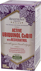Active Ubiquinol Co Q-10 with Resveratrol <p><strong>From the Manufacturer's Label: </strong></p><p>Made with organic French red grapes</p><p>The active form of Co Q-10, ubiquinol is vital for cellular energy. Active Ubiquinol delivers pre-converted Co Q-10 to support cellular rejuvenation and vitality. Only Active Ubiquinol uses patented Licap Liquid delivery system, allowing micronized ubiquinol molecules to travel efficiently through the body for