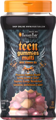 Teen Multivitamin Gummy <p>Promotes Immune Health**</p><p>Strong Bones & Teeth**</p><p>Tangerine, Watermelon & Berry</p><p>Teen Multi Gummies are a delicious and convenient source of vitamins and minerals, plus extra nutritional support to address the unique health needs of today's active teens.**</p> 70 Gummies  $13.99