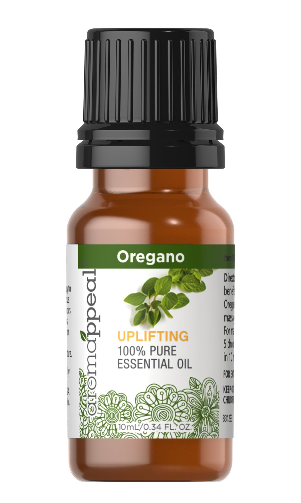 "Oregano 100% Pure Essential Oil <p>Delight your senses with the total body purification of Oregano Oil. Punctuated by its strong, spicy, herbal aroma, Oregano is a cleansing, invigorating oil that can leave you feeling totally revitalized. </p><p><span class=""bold-pink"">Traditional Uses: </span>Cleansing, purifying, and revitalizing.<span class=""bold-pink""></span></p><p><span class=""bold-pink"">History: <"