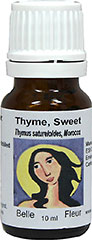Sweet Thyme 100% Pure Essential Oil <strong></strong><p><strong>From the Manufacturer's Label: </strong></p><p>Give in to the sensuous allure of Sweet Thyme and allow yourself to experience pure aromatherapy at its finest. True to its name, Sweet Thyme has a dominant, sweet aroma, accented by woody-scented undertones.</p> 10 ml Oil  $24.99