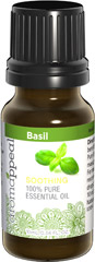 "Basil 100% Pure Essential Oil <p>You'll feel replenished when you succumb to the utter tranquility of earthy, minty-sweet Basil. </p><ul><li><span class=""bold-pink"">Aromatic Scent: </span>Earthy mint, sweet, slight scent of licorice</li><li><span class=""bold-pink"">Traditional Uses: </span>Purifying and cleansing, tranquility.</li><li><span class=""bold-pink"">History: </span>You'll  fe"