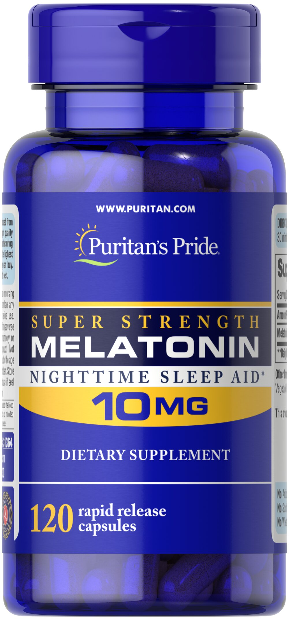 Melatonin 10 mg <p>Sometimes it's hard to unwind after a long day. That's when it's time for Melatonin, a hormone naturally produced in the body that is closely involved in the natural sleep cycle.** It's a terrific choice if you experience occasional sleeplessness or jet lag, or if you want to improve your quality of rest.**</p> 120 Capsules 10 mg $7.59