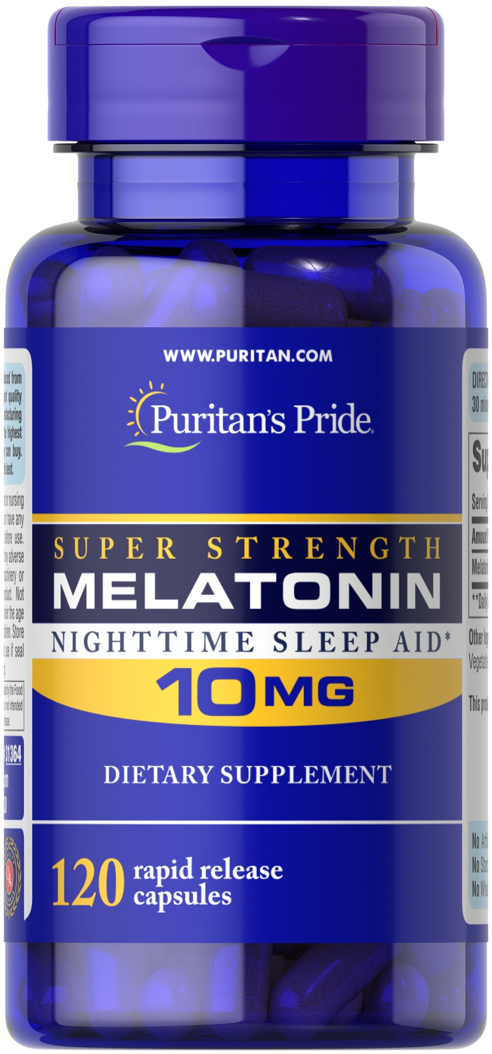 Melatonin 10 mg <p>Sometimes it's hard to unwind after a long day. That's when it's time for Melatonin, a hormone naturally produced in the body that is closely involved in the natural sleep cycle.** It's a terrific choice if you experience occasional sleeplessness or jet lag, or if you want to improve your quality of rest.**  Melatonin helps you fall asleep quickly and stay asleep longer**<br /></p> 120 Capsules 10 mg $19.99