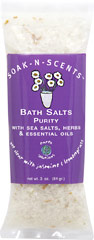 Purity Bath Salt <p>Get clear with jasmine and lemongrass. </p><p></p>To eliminate achiness, soften the skin and purify your thoughts,  draw a warm bath. Add the contents of this packet to your warm bathtub or footbath and soak in the scents. 3 oz Salt  $4.99