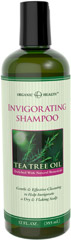 Organic Health™ Invigorating Tea Tree Oil Shampoo <p>Enriched with Natural Botanicals</p><p>Gentle & Effective to Help Invigorate a Dry & Flaking Scalp</p><p>Tea Tree Oil Shampoo is a gentle cleanser that will leave your hair and scalp feeling healthier than ever. This refreshing formula helps reinvigorate a dry and flaking scalp - proving soothing moisture and gentle stimulation while it cleanses. Enhanced with natural organic botanicals, Tea Tree O