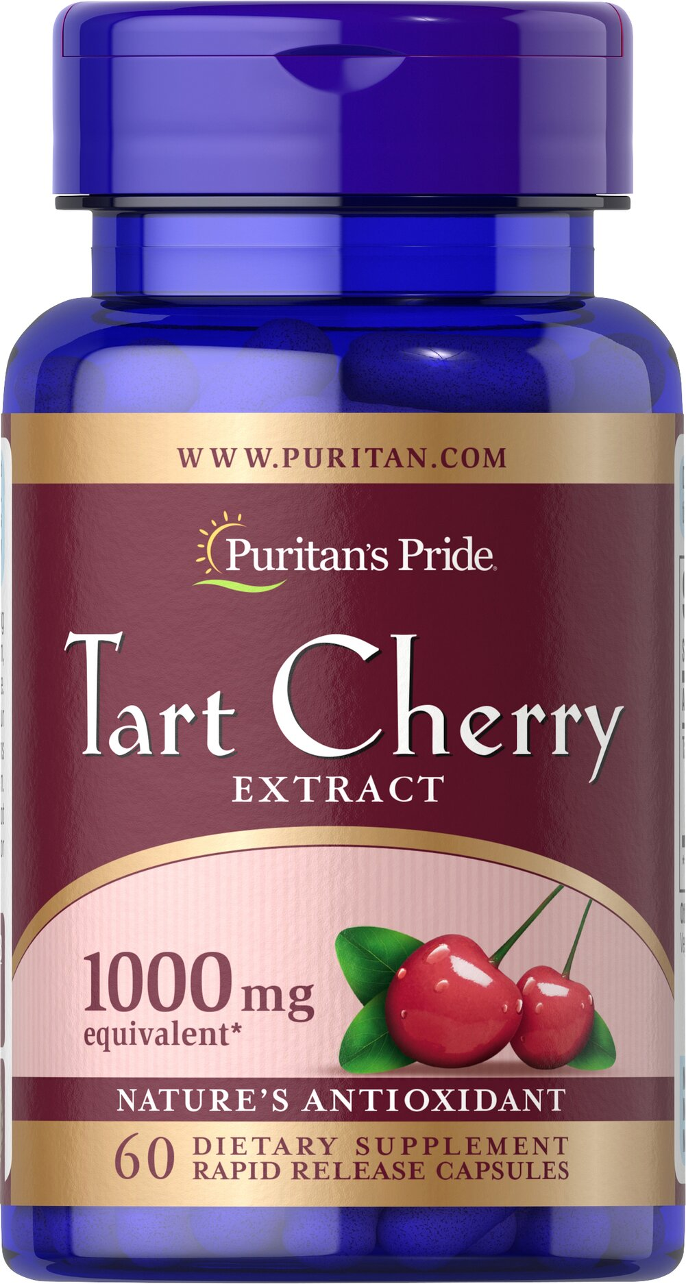 Tart Cherry Extract 1000 mg <p>Cherries are known for their natural content of antioxidants and other beneficial components. Now you can easily obtain the benefits of Tart Cherry in our convenient Tart Cherry capsules. Each serving contains a 4:1 extract of Tart Cherry to help retain the most important constituents.</p> 60 Capsules 1000 mg $17.99