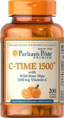 Vitamin C-1500 mg with Rose Hips Timed Release <p><b> Time Released</b></p><p>Vitamin C is essential to many functions in the body.  It is one of the leading vitamins for immune support and helps fight cell-damaging free radicals. ** Ours includes Rose Hips--one of the most concentrated sources of Vitamin C available.</p>This product has been designed to be released over a prolonged period of time.</p><p>Offers superior antioxidant support.**</p