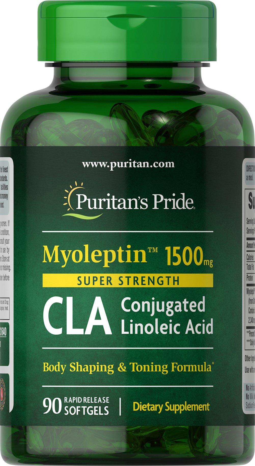 Super Strength Myo-Leptin™ CLA 1500 mg <p>Supports a healthy body composition**</p><p>Exercise and dieting support**</p><p>Extra strength formula is 50% stronger++</p><p>As always, use with a reduced calorie diet and daily exercise program.</p><p>++Compared to our 1000 mg Tonalin CLA</p> 90 Softgels 1500 mg $21.73
