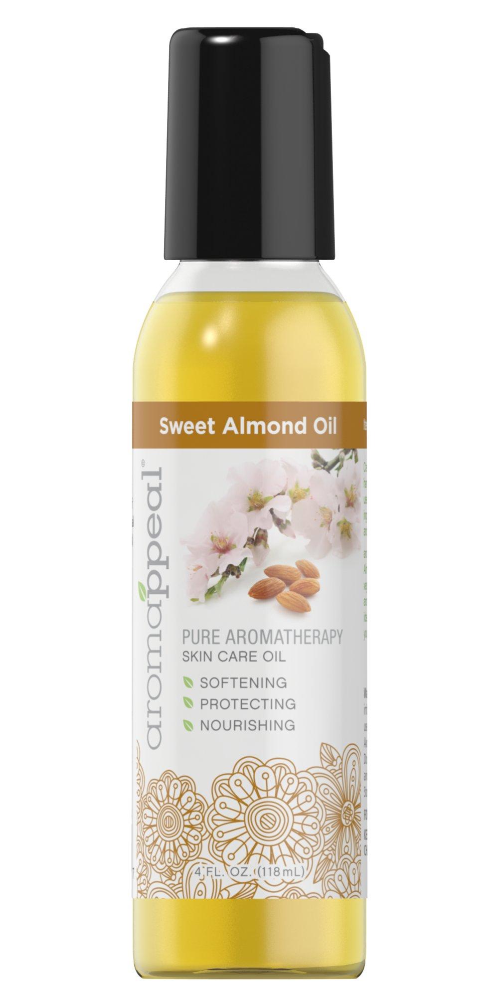 Sweet Almond Oil <p>Created to bring you harmony, Aromappeal™ uses the most balanced ingredients to lift your spirits and soothe your mind.</p><p>Aromappeal™ Sweet Almond Oil is a natural vegetable oil with a neutral aroma. This base makes an ideal ingredient to create your own aroma recipe.</p> 4 oz Oil  $7.99