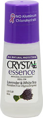 Crystal® Lavender & White Tea Mineral Deodorant Roll-On <p><strong>From the Manufacturer's Label:</strong></p><p>Paraben Free</p><p>Hypoallergenic</p><p><strong>Natural Deodorant Protection</strong></p><p>Crystal essence™ Lavender & White Tea, made of natural mineral salts and infused with the relaxing aromas of lavender and white tea, creates an invisible protective barrier against odor-causing ba