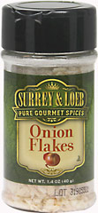 Onion Flakes <p>Onion is one of the most popular and versatile flavors – it can be used to add a pungent kick to almost any dish. Beloved for their distinct, robust flavor and aroma, Onion Flakes are a spice rack staple of chefs far and wide. When infused into liquid-containing dishes like sauces, soups and marinades, Onion Flakes are easily rehydrated to perfectly complement your recipes.</p> 1.4 oz Flakes  $4.24