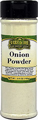 Onion Powder <p>Onion Powder is perfect for those who like to give their food onion flavor but prefer not to bite into an actual onion slice. This onion powder mixes easily into sauces, soups and marinades alike.</p> 3.6 oz Powder  $5.99