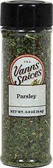Parsley Flakes <p>The pleasantly sweet and fresh taste of Parsley makes it ideal for enhancing the flavors of other herbs. Parsley is also famously used as a garnish, and is a great way to dress up any meal.</p> 0.3 oz. Flakes  $4.49