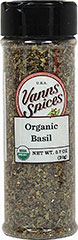 Organic Basil <strong></strong><p><strong>From the Manufacturer's Label:</strong></p><p>Basil is prized for its pleasantly sweet aroma and flavor. It is a member of the mint family and is notable for its deep green color. When accenting your recipes with Basil, it's best to add it toward the end of the cooking process to avoid burning it.</p> 0.7 oz Bottle  $5.99